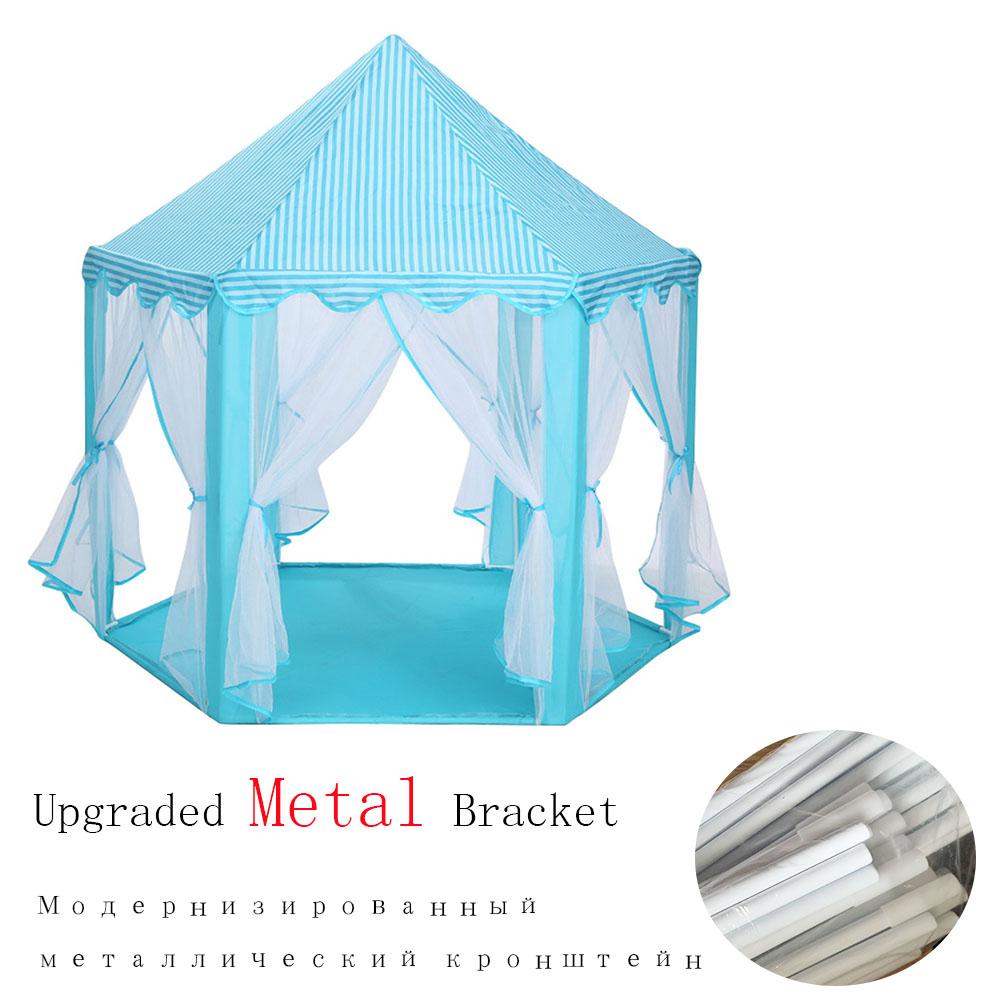 Портативная детская палатка для детей, игрушечная принцесса, Wigwam Ball, бассейн, замок, игровой домик для девочек и мальчиков, складная Игровая ...(Китай)