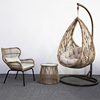 Hanging chair+Small coffee table+Leisure chair