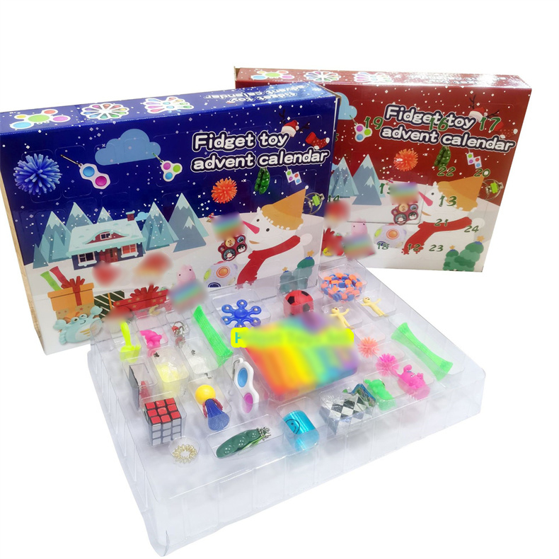 2021 24 шт., набор игрушек-антистрессов, дешевые сенсорные игрушки, упаковка для детей и взрослых, коробка для антистресса с мраморной сеткой, антистрессовый мяч и многое другое