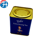 Tin Packaging Square Tea Canisters Air Tight Tin Jar Square Small Metal Can Print Tea Packaging