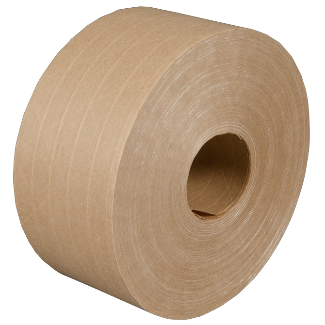 Fiber Reinforced Water Activated Printed Self Reinforced Adhesive Brown  Kraft Paper Tape Roll - Buy Brown Kraft Paper Roll,Kraft Paper Roll,Brown  Kraft Paper Tape Product on Alibaba.com