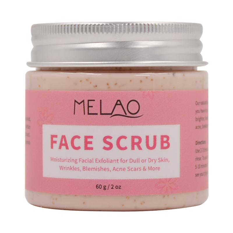 Custom logo anti acne melao facial care own brand face scrub