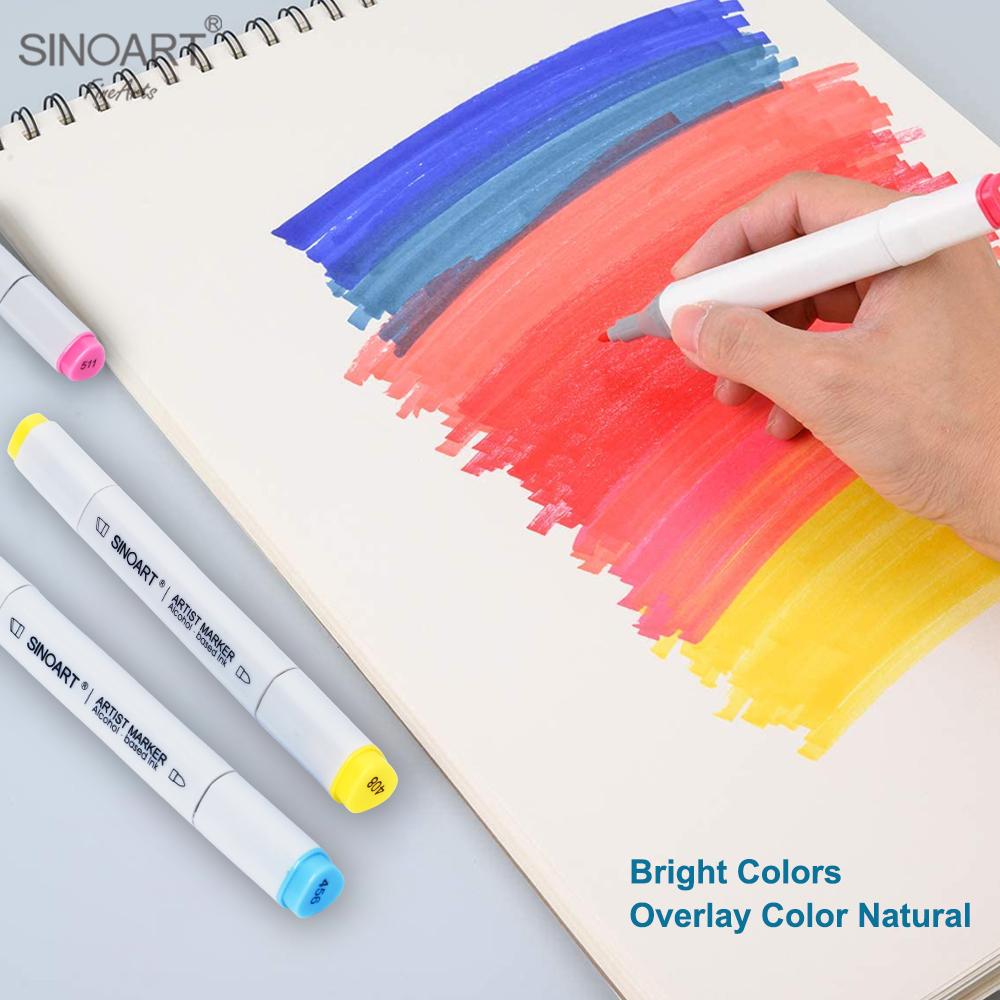 Высокое качество 120 цветов двойной наконечник художественный Рисунок художественный фломастер на спиртовой основе