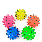 Ball Pet Toys Toy Ball Squeaky Spike Ball Dog Rubber Sounding Pet Toys Aggressive Chewers Interactive Puzzle Ball Toy