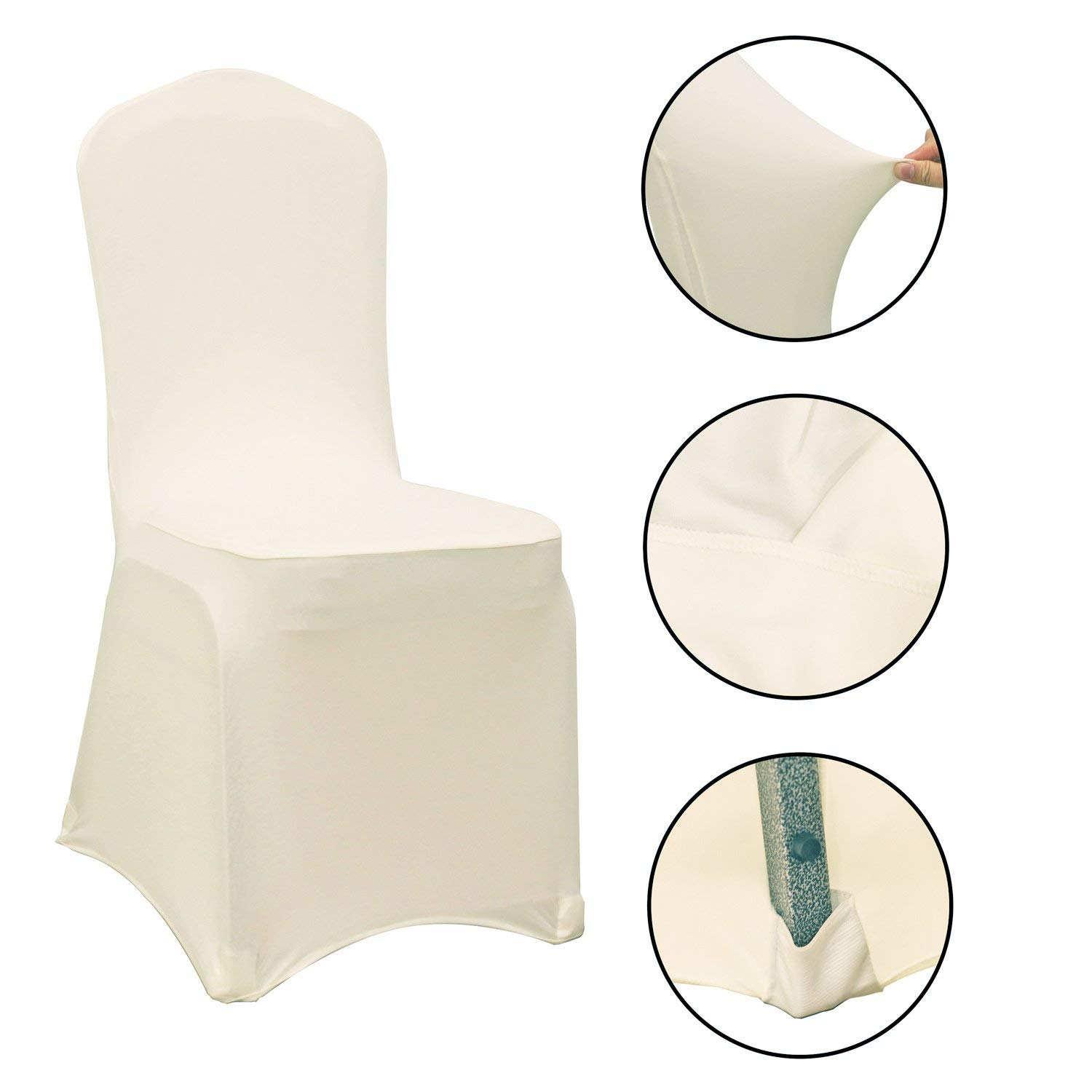 Wholesale White Spandex Chair Cover with Back Cross Stretch Slivcovers for Banquet Wedding