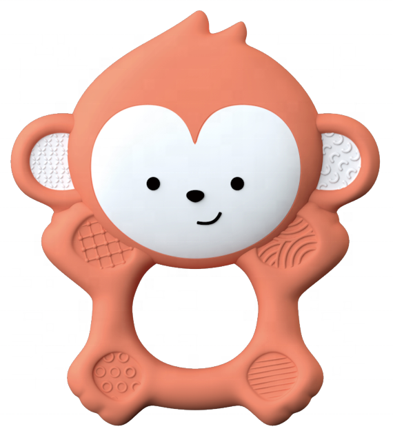 Safe For Infant Teething Toy Natural Rubber Baby Teether