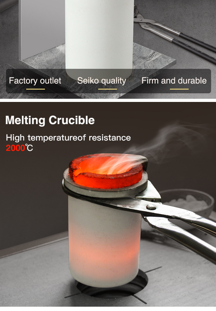 1-8kg gold melting crucible and ceramic shell for melting gold and silver melting