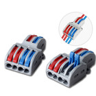 Drop shipping 2 In 4 Out Lever Wire Splitter Quick connection terminal MINI SPL-42 Small Wire Connector Push In terminal block