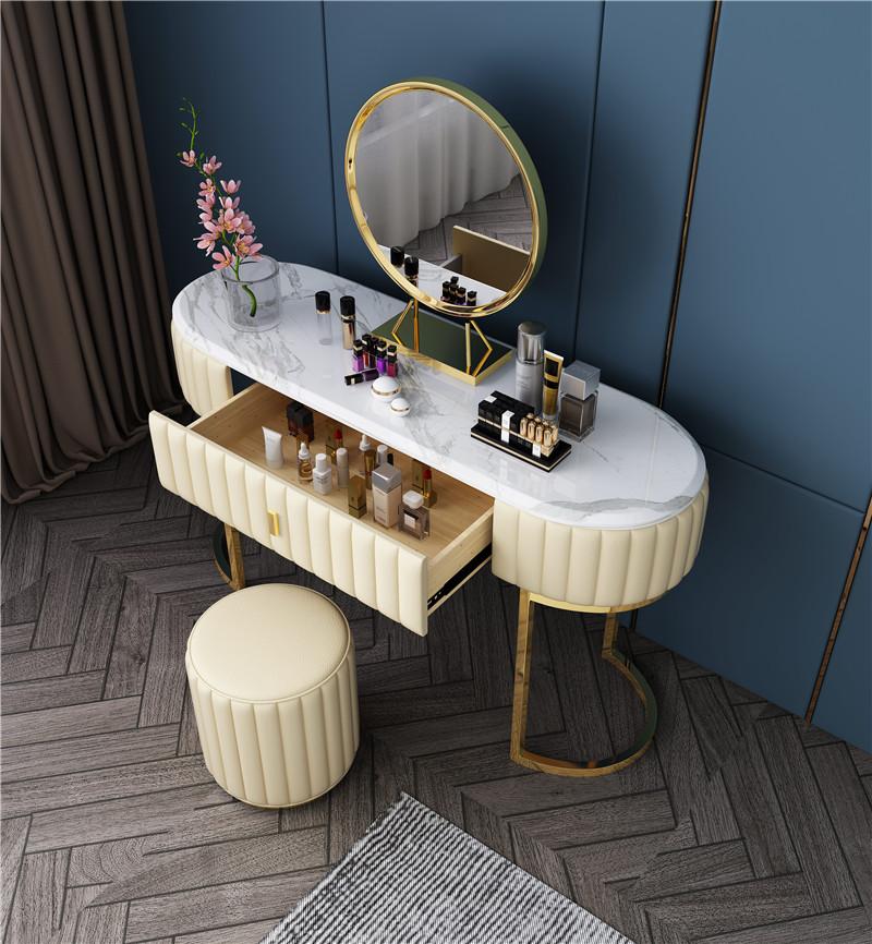 Custom Gold Metal Marble Top Dressers Cabinet Home Furniture Luxury Bedroom Dresser Table