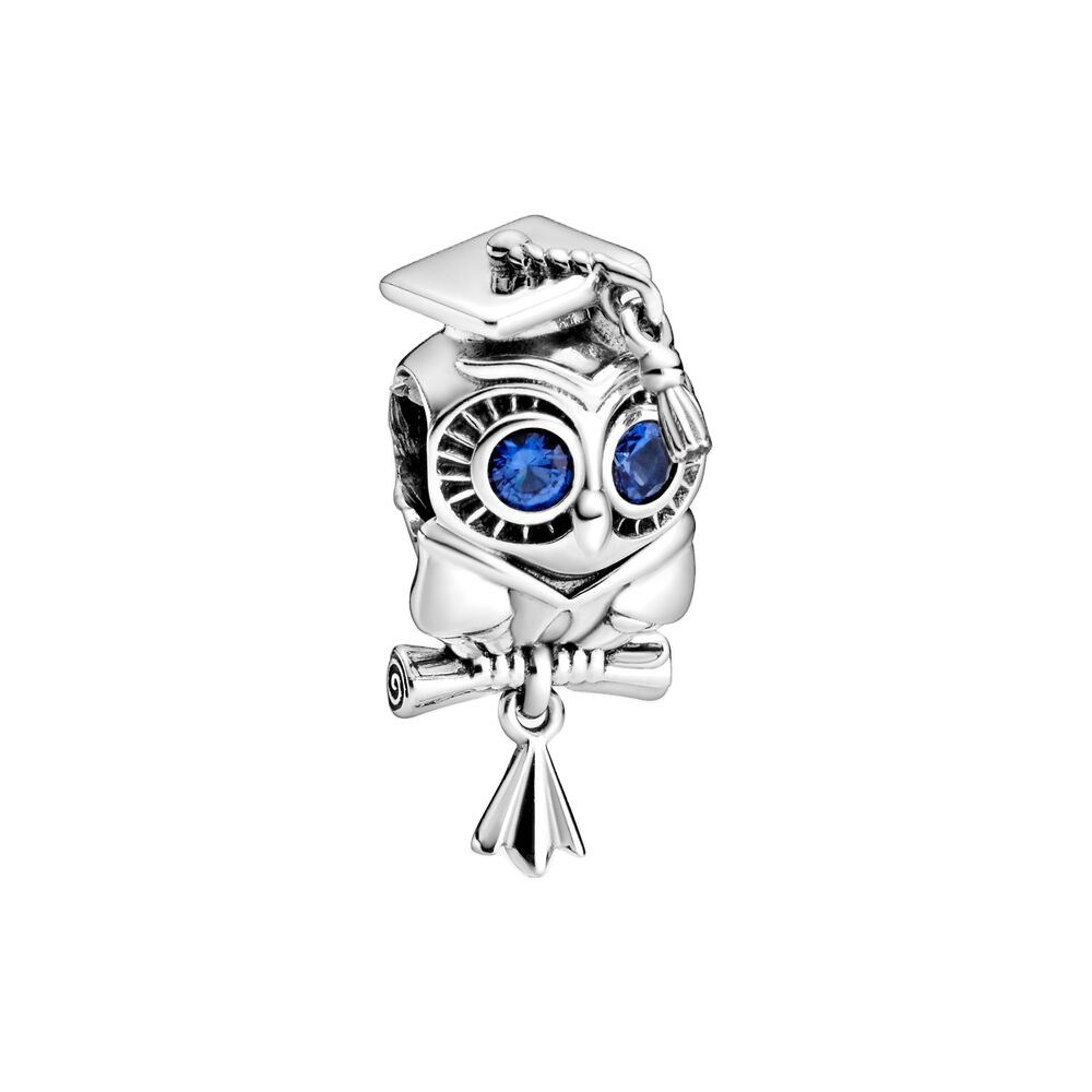2020 Hot Sale Wise Owl Graduation Charm New 925 Sterling Silver Moon Charm  Fits Pandora Carnation Jewelry - Buy 2020 Sterling Silver Wise Owl ...