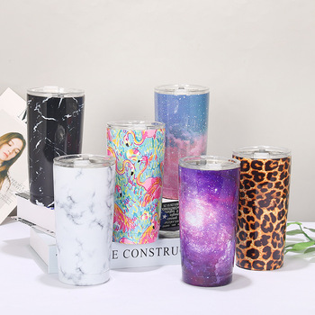 Creative Printing Convenient Custom Logo Outdoor Car Steel Stainless Vacuum Cup Sport Bottle