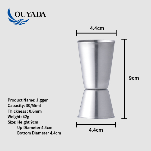 Factory Direct customizable 75ml 150ml stainless steel jigger