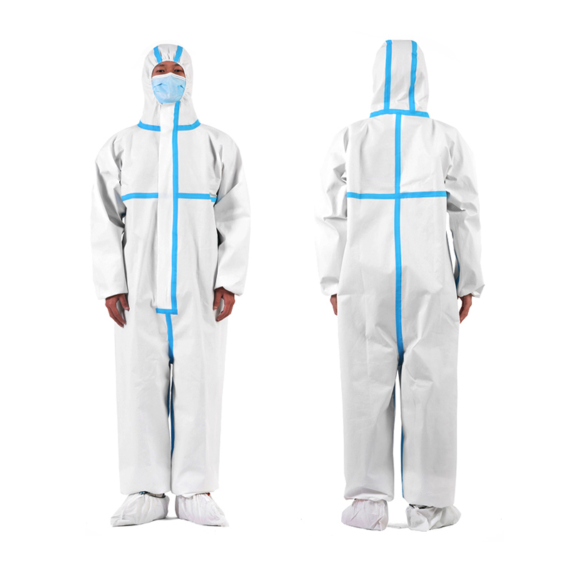 Disposable Sterile Coverall Suit Heavy Duty Chemical Protection Isolation Wear with Hoodie safety gown - KingCare | KingCare.net
