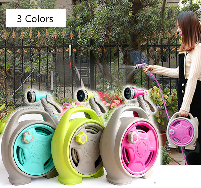 Hot Selling Lightweight Automatic Retractable High-Pressure Water Gun Portable Garden Mini Hose Reel Set