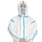 Coats Non-woven Pp Fluid Resistant Disposable Coverall Buttons Lab Coats
