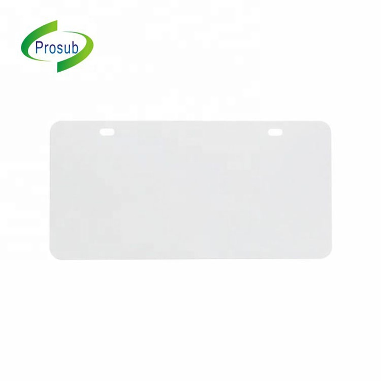 Prosub No MOQ Personalized Blank Sublimation Aluminum Car License Plate
