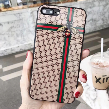 Luxury Fashion Style Glass Mirror Bee Case for Apple X XS XR XS Max, For iPhone 6 7 8 Luxury Case