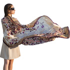 New Spring Fashion Luxury pure silk scarf shawl long size stole hijab for Women