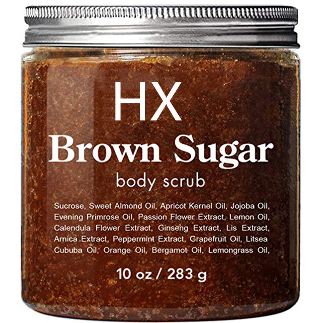 Vegan Brown Sugar Face Private Label Wholesale Exfoliating Organic Shower Cream Foot Facial Body Scrub