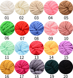 Fancy Soft Fluffy Arm Knit Crochet Chunky customized Multiple Colors chunky Chenille Yarn