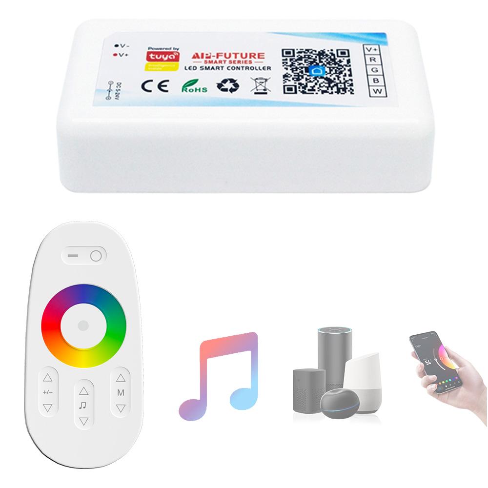 rgb controller wifi 12V rgbw led strip 144W Tuya Smart Life 2.4G RF touch remote alexa voice control rgbw led wifi controller