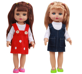 New Arrival Hot Selling 13 Inch Silicone Vinyl Lovely Dress Up Baby Barbie Doll For Girls