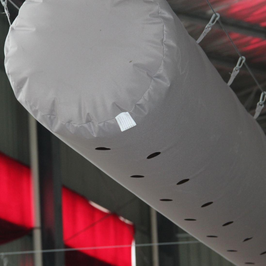 Система ОВКВ, бактериальная ткань, воздуховод, антистатический 1000d огнестойкий ПВХ брезентовый материал, воздуховод