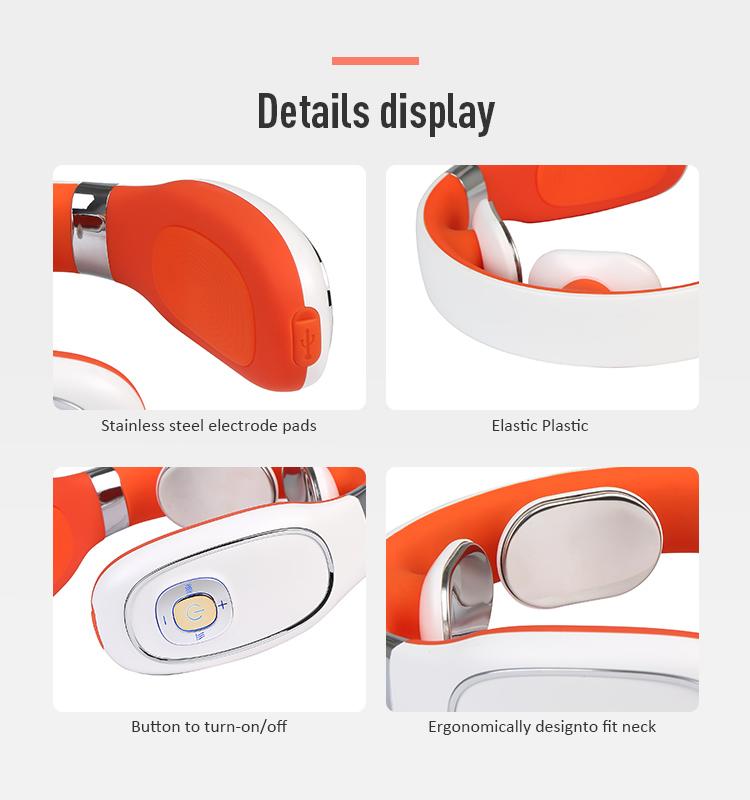 M jhf-808 Новые поступления 2020 портативный интеллектуальный беспроводной автоматический расслабляющий нагревательный u-образный Электрический массажер для шеи и плеч