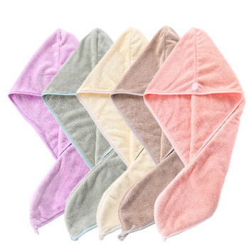 Custom Wholesale Fast Dry Lightweight Soft Drying Wrapped Microfiber Absorbent Coral Fleece Micro Fiber Hair Towel