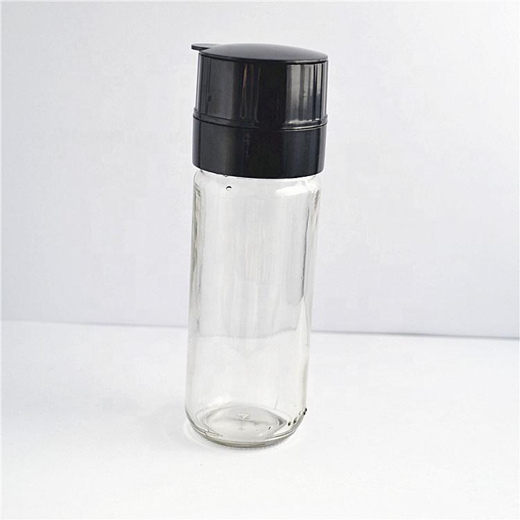 Wholesale Glass Bottle Spice Pepper Grinder ceramic Coarseness Spice Pepper Mills