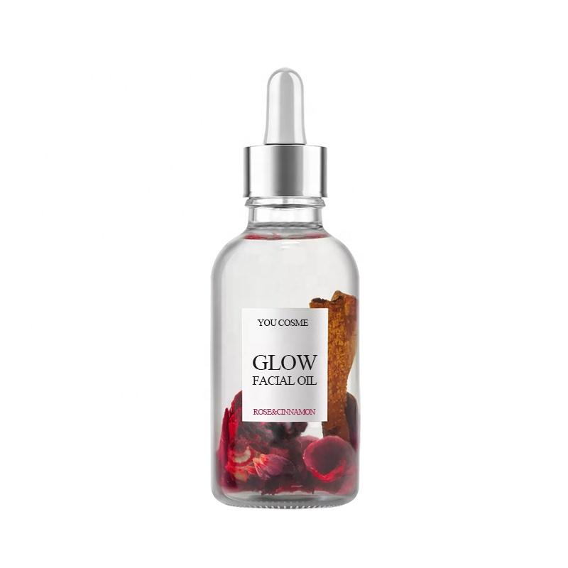 Private Label Organic Vitamin C Vitamin E Rose Facial Oil Serum Glow Facial Oil