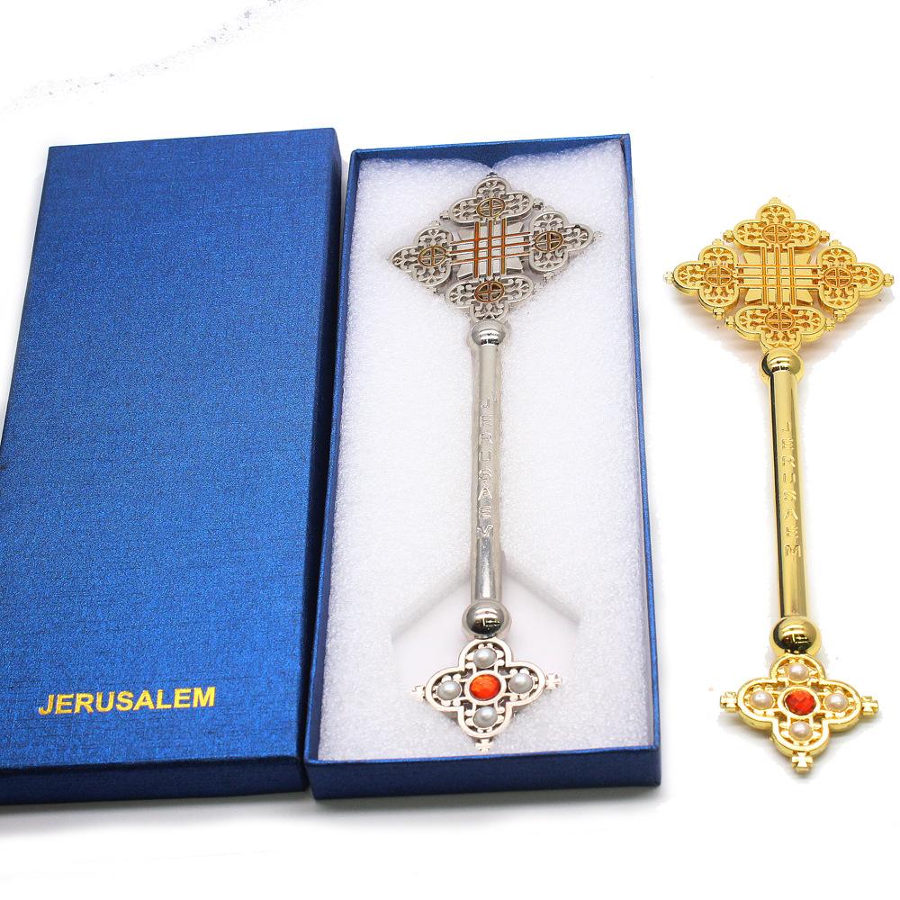 Прямая продажа с фабрики, горячая Распродажа, металл с коробкой, религиозная молитва, медведь и крест в эфиопском стиле