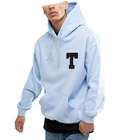 Toweling T To Chest Hoodies Hoodies Manufacturer Towel Embroidery Heavyweight 100% Cotton Plain Pullover Oversized Hoodie