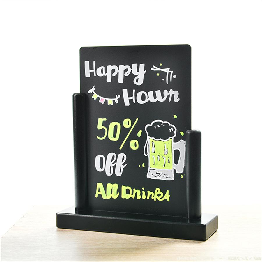 Mini Tabletop Wooden Base Double Sided Chalkboard Sign Easel - Yola WhiteBoard | szyola.net