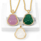 Foxi Hot Sale Jewelry Fashion 18k Jade Budah Pendant And Chain Necklace
