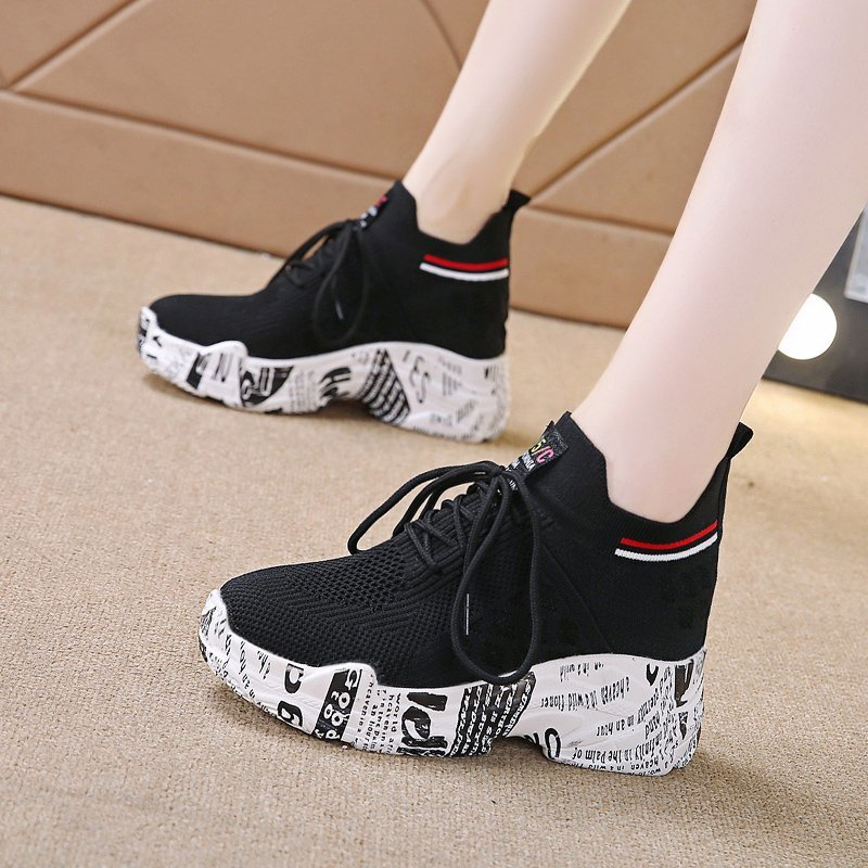 Womens Chunky Sneakers shoes for women Platform Comfort Shoes Breathable Height Increasing Casual Sneakers zapatillas mujer