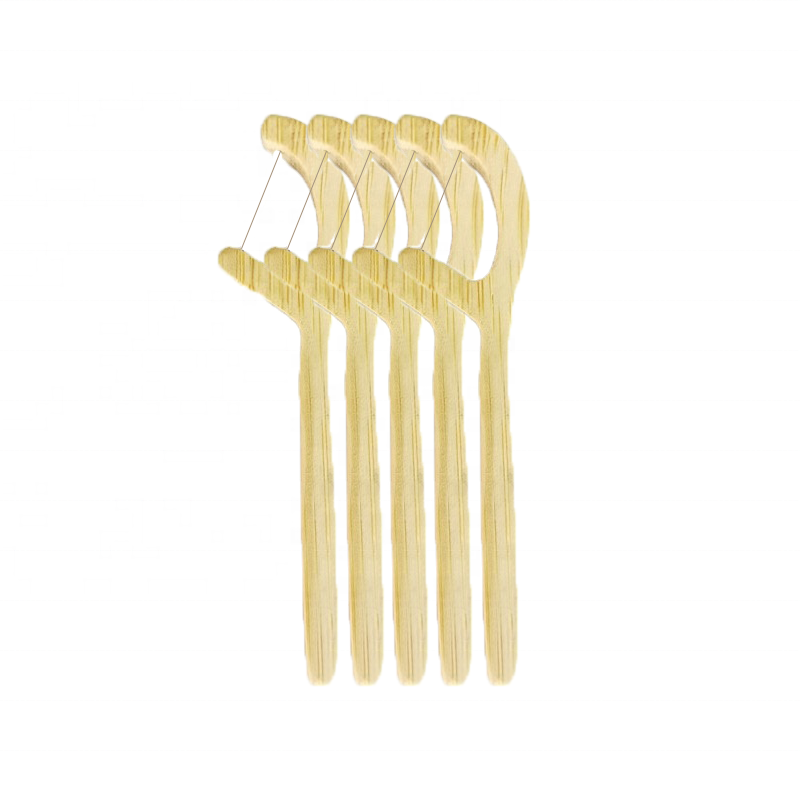 High Quality New Product100% Natural Degradable Reusable Plastic Free Eco Friendly Wooden Bamboo Dental Teeth Floss