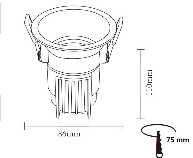 Встраиваемый настенный прожектор для установки на заказ от китайского производителя