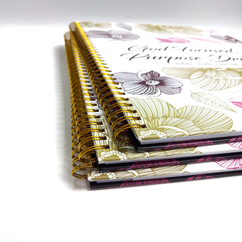Customized A4 Design Hardcover Spiral Journal Notebook Planner Bible Study Journal With Pocket