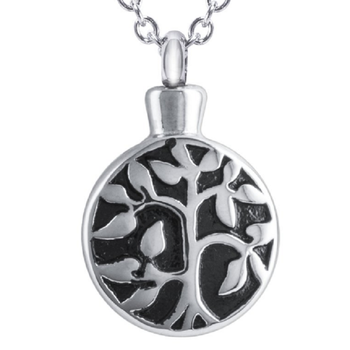 hot sell family tree of life cremation pendant 925 sterling silver urn necklace jewelry
