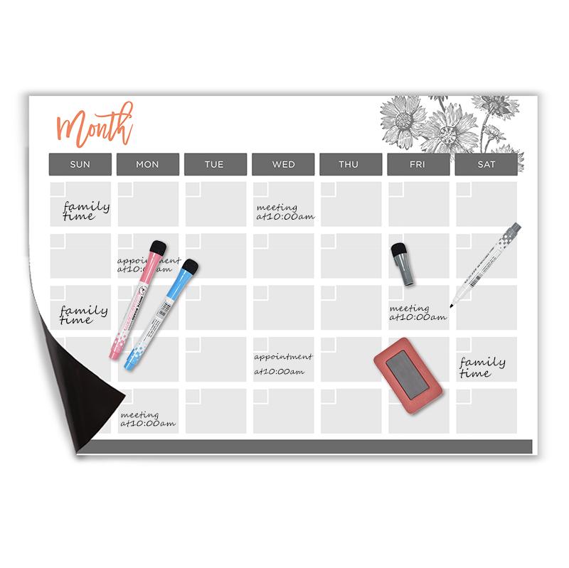 High Quality Stylish Design flexible magnetic weekly planner whiteboard a3 stick on fridge - Yola WhiteBoard | szyola.net