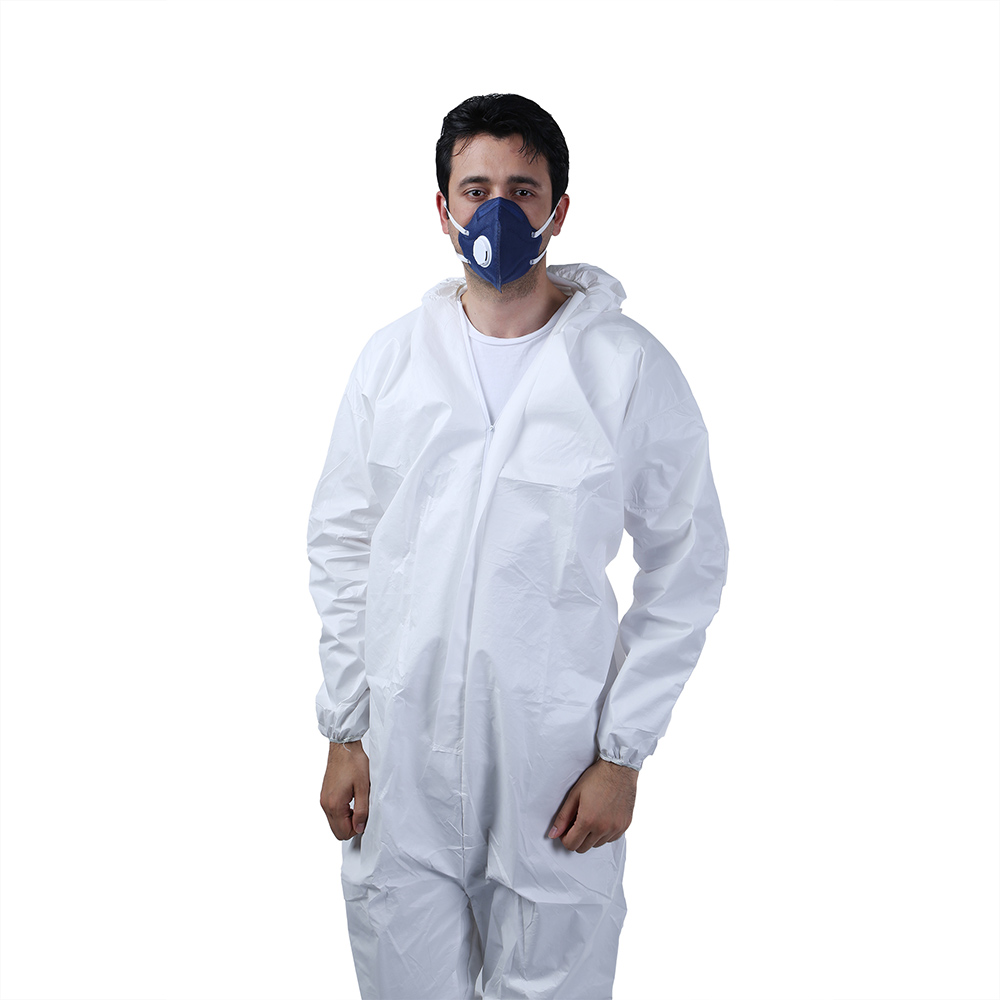 Safety Nonwoven Light Duty PPE Protective Disposable Hooded White Microporous Coveralls - KingCare | KingCare.net
