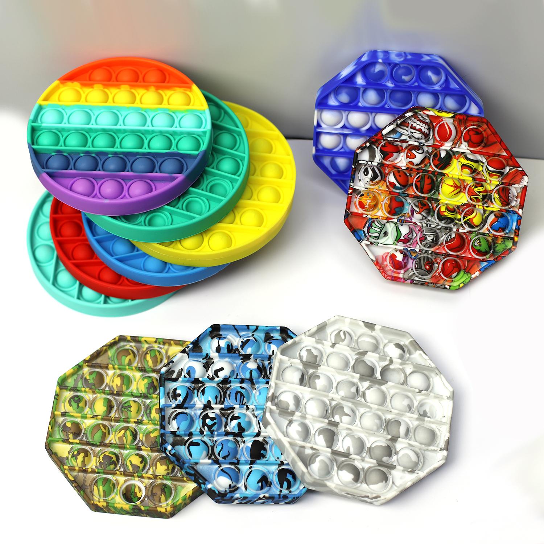Amazon Hot Sell Sensory Fidget Toys Set For Stress Relief Silicone Push Pop Bubble Fidget Sensory Pop It Fidget Toy For Kids
