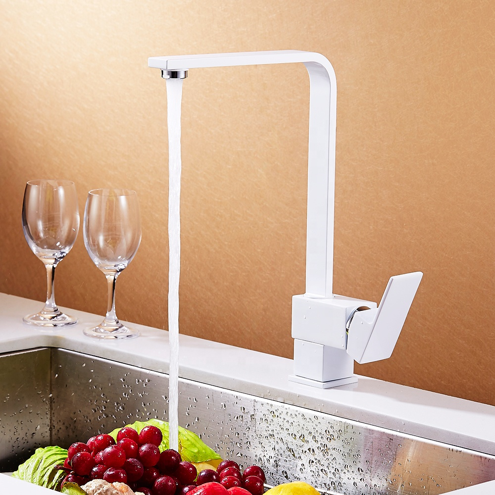 B0002-C-C краны с длинным носиком для горячей и холодной воды, хромированный кухонный кран с одной ручкой