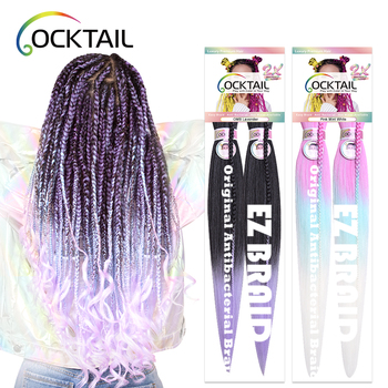 private label hot water setting 58 colors different length pre stretched layered end braiding hair in stock