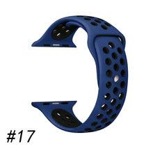 Спортивный ремешок для apple watch band 4 5 44 мм 40 мм correas 42 мм 38 мм iwatch браслет серии 5/4/2/1 силиконовый ремешок для часов резиновый ремень(Китай)