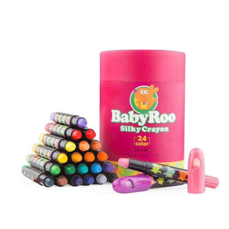 24 Colors Silky Washable Crayons Toddlers Kids Pastel Watercolor Wax Crayons Drawing Coloring Pens Oil Pastel Set