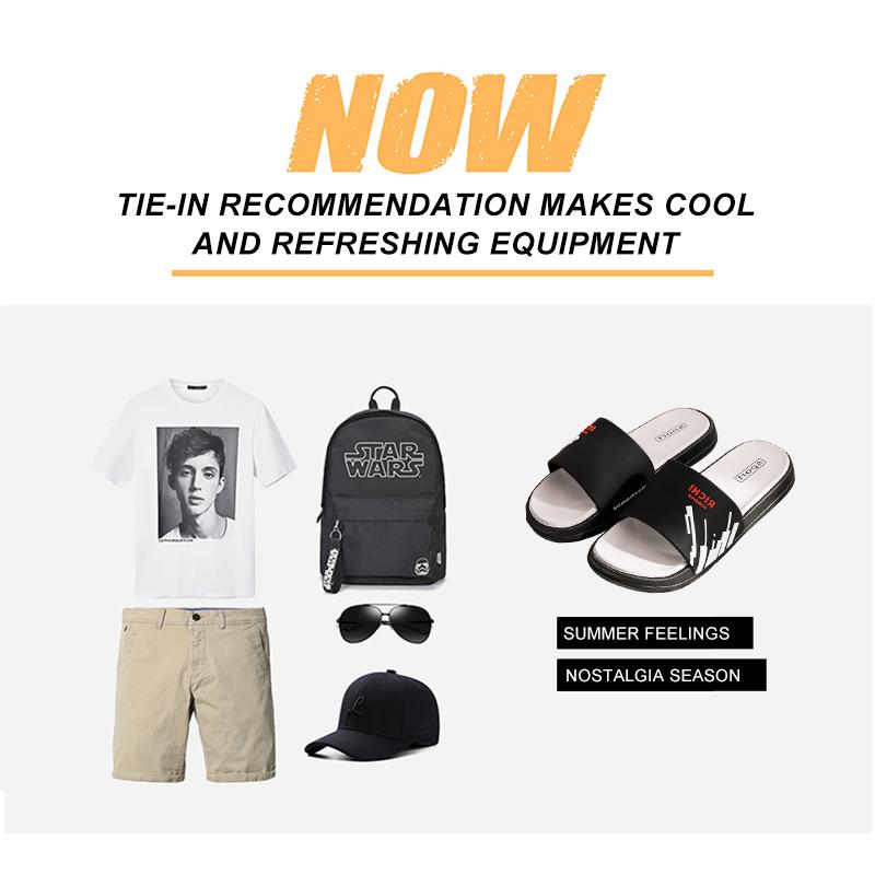 Fashion 2020 Mens Slides Comfort Sports Sandals Beach Casual Summer Shoes, Indoor/Outdoor Flip-Flop Shower Slippers For Men