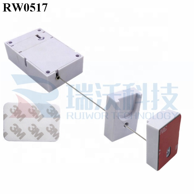 RUIWOR RW0517 Cuboid Anti-Theft Display Cable Retractor with Magnetic Clasps Holder End for Mobile Phone Retail Security Display