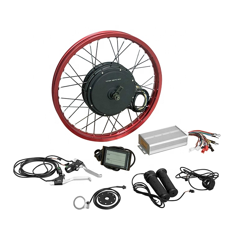 72v 3000 watt 50H magnets rear hub motor ebike kit with SW900 LCD display